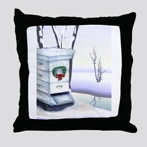 Winter Hive Throw Pillow